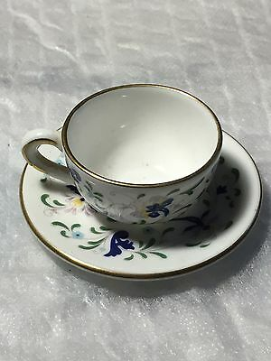 Coalport Miniature Cup And Saucer. Pageant, Mint