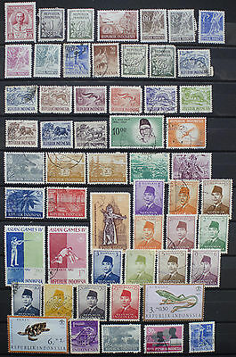 Collection of Stamps from Indonesia