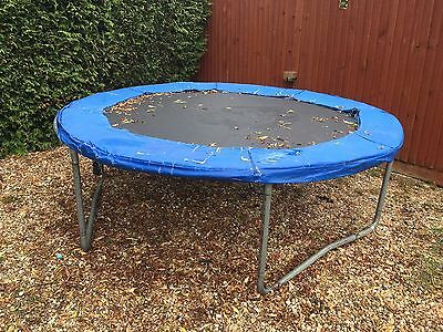 8ft Trampoline with netting surround and trampoline cover