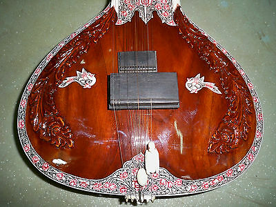 AMAZING SAMY ELECTRIC SITAR CONCERT QUALITY HANDE MADE with fiber box
