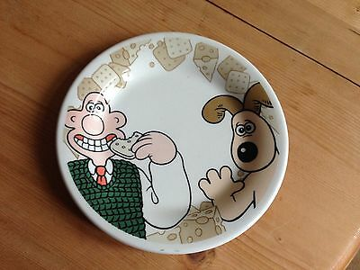 Vintage 1989 Wallace & Gromit Cheese And Cracker Plate Exclusive To Jacobs
