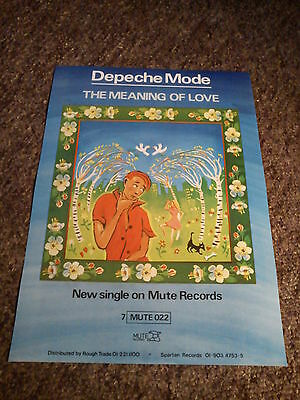 """Depeche Mode """"the Meaning Of Love"""" 17 X 11 Promo Poster"""