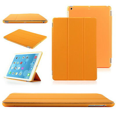 Orange Luxury Slim Leather Smart Magnetic Stand Cover Case for Apple iPad 5 Air