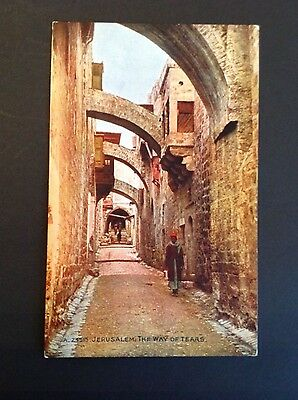 Colour Postcard - Jerusalem The Way of Tears