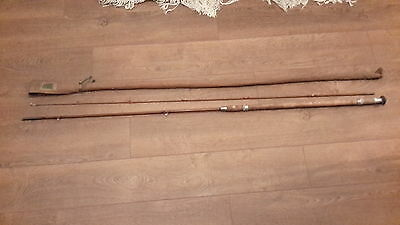 Vintage Apollo Tubular Steel Fishing rod, With Rod Bag, approx 10 ft with handle