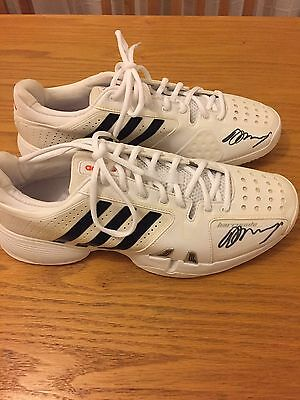 Andy Murray Signed Adidas Trainers - used at Wimbledon 2013