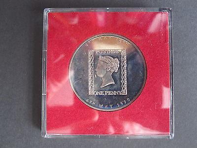 150th Anniversary of Penny Black - 1990 Royal Mail medallion in plastic case