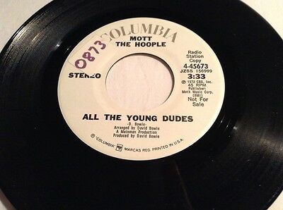 "Mott The Hoople All The Young Dudes Rare USA Promo Mono Stereo 7"" Single"