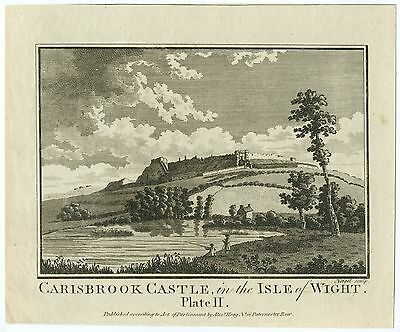 "ANTIQUE PRINT/ENGRAVING - ""CARISBROOK CASTLE, in the ISLE OF WIGHT"""
