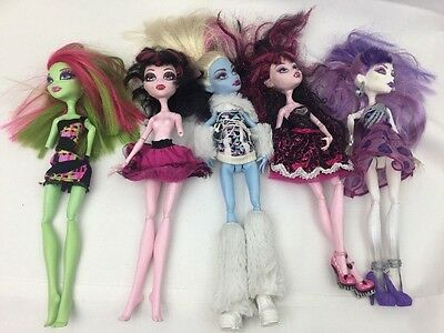 Bundle Of 5 Monster High Dolls Joblot