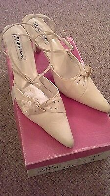 Ivory Satin Bridal Shoes By Henry Kaye - Uk 5 - New In Box