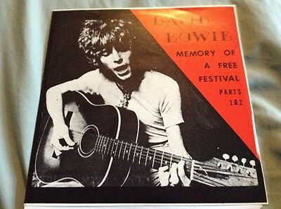 "David Bowie Memory Of A Free Festival Parts 1&2, 7"" P/S Single Promo"