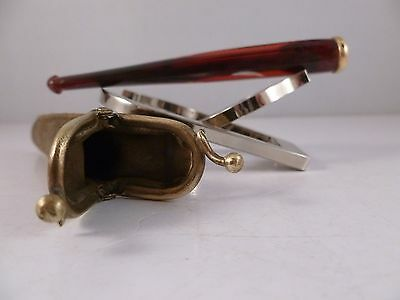 Stylish RUBY RED Bakelite ART DECO Cigarette Holder with Original Leather Case