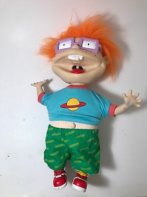 Chuckie finster scared doll 1997 rugrats plush spider rare works collectible