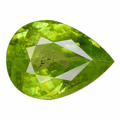 1.330Cts Attractive Luster Green Natural Sphene Pear Loose Gemstones