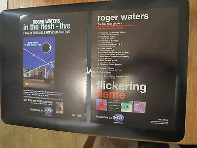 PINK FLOYD  ROGER WATERS In The Flesh Live + Flickering Flame Dbl sided