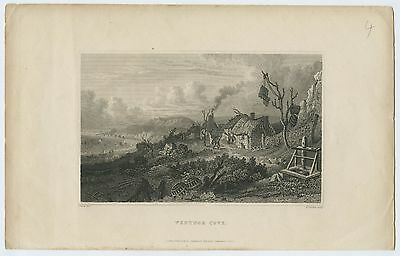 "Antique Print/engraving - ""ventnor Cove"", Isle Of Wight"