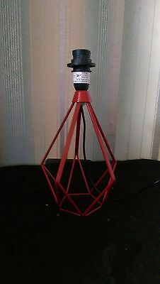 Small Designer Table Lamp Red base