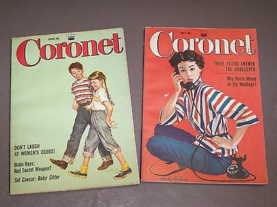 Lot of 2 Coronet magazines, May 1955 and June 1955