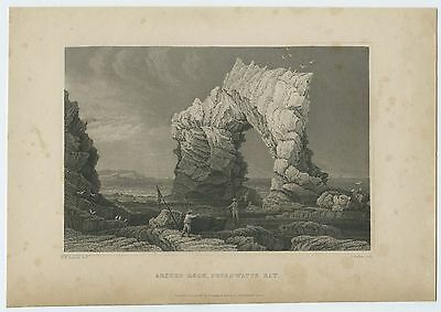 "Antique Print/engraving - ""arched Rock, Freshwater Bay"", Isle Of Wight"