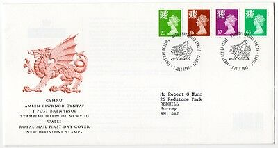 Royal Mail First Day Cover 1997 Wales New Definitive Stamps