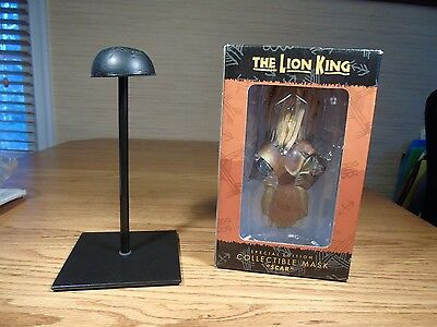 SCAR MASK Disney's The Lion King  - Special Edition Collectible Mask & Stand