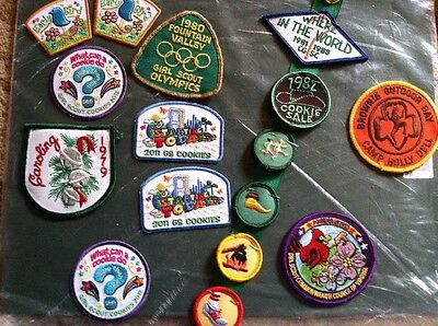 Lot of 16 Assorted Vintage Girl Scout Merit Badges Patches - Unsewn