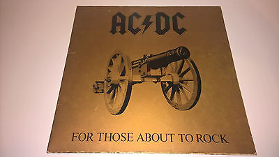 AC/DC - For Those About To Rock - IRISH PRESSING LP IRELAND HEAVY METAL