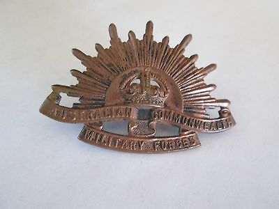 WWI/WWII? Australian Commonwealth Military Forces Badge-AMOB Sydney