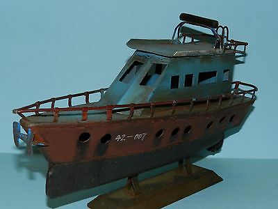 Tin Toy Boat/Yacht Antique Look. 29cm long. New in Box