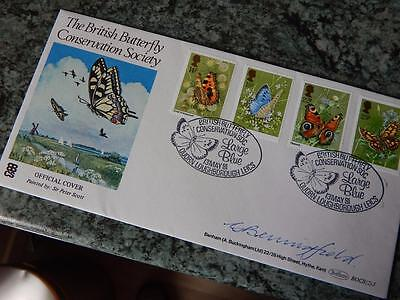 1981 British Butterfly Conservation First Day Cover Signed Gordon Benningfield
