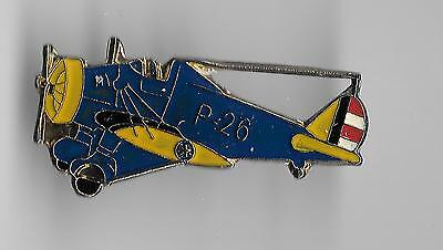 Vintage P-26 Peashooter Fighter Aircraft old enamel pin