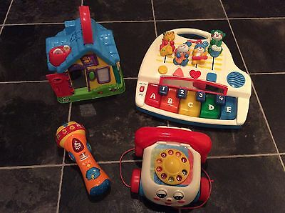 Bundle of Musical Toys V Tech, Fisher Price x 2, Leapfrog