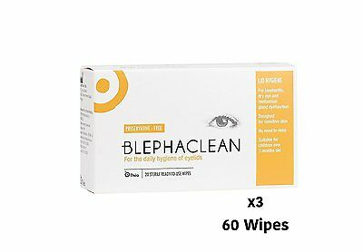 60 BLEPHACLEAN Sterile Eyelid Wipes For BLEPHARITIS