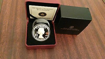 """Canada 2009 $15 """"High Relief"""" Silver Proof  Royal Series Coin. Scarce!"""