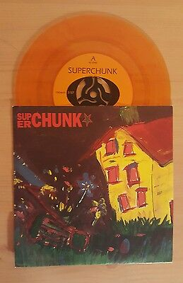 """Superchunk Mower/On The Mouth 7"""" Limited Colour Vinyl Single City Slang"""