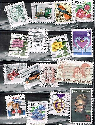 (14-346)  16 Assorted Canceled  US Postage  sTamps