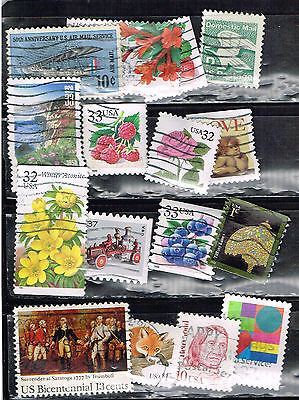 (14-307) 16 Assorted Canceled  US Postage  sTamps