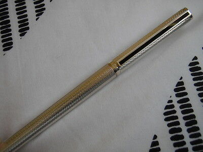 Dunhill Fountain Pen.Oringinal Gemline model, SILVER BARLEY. SALE PRICE