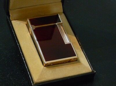 Stunning S T Dupont Line 2 Large Brown Lacquer with Rose Gold Trim - Boxed