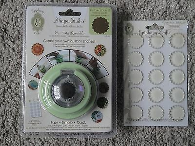 Epiphany Crafts: Scalloped Circle 25 Shape Studio Punch Tool - with Bubble Caps