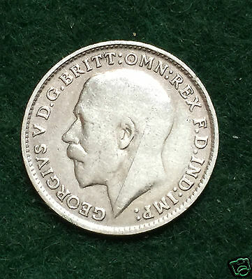 GEORGE V - Threepence - 1917. Collectable Coin.