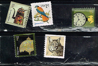 (14-208) 5  Assorted  Uncancelled  US Postage  sTamps