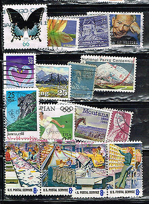 (14-215) 16  Assorted  Cancelled  US Postage  sTamps