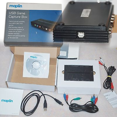 Maplin USB Game Capture Box & Software from XBOX 360, PS3, Wii - RRP: £50+