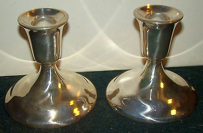 Vintage Pair of International Silver Co. Silverplate Candlesticks Candle Holders