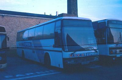 Original Bus Colour Slide Of A Leyland Tiger National Express Coach In 1989.