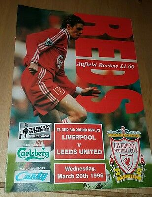 Liverpool vs Leeds United 20/3/1996 F.A. Cup 6th Round Replay