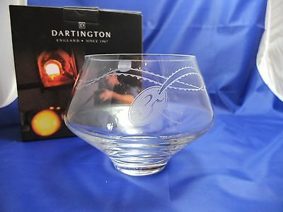 "Dartington Celebrate Silver Wedding Bowl clear with etched ""25"" brand new in box"