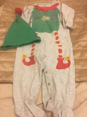 Baby Christmas 'elf' Romper Suit Aged 12-18 Months